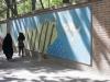 Murale na murze Jaskini Amerykańskich Szpiegów.