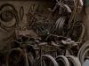 Opuszczony warsztat rowerowy na bazarze w Yazd.