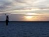 Koleżanka Layla i zachód słońca.