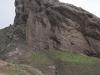 Iran, Alamut, skała, na której stał zamek Alamut.