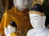 Stupa Shwe Dagon. Buddowie.