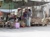 Sprzedawcy drewna Thanaka.