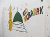 Chittagong, Saderghat i stary Chittagong. Eid Mubarak - graffiti na święto Eid Ul Adha.