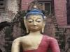 Kathmandu, Swayambhu, figura Buddy.