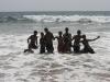 Plaża w Colombo, lokalsi uwielbiają być fotografowani.