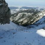 Widok z Przechodu do Dol. Małej Łąki. Po lewej Wielka Turnia, bardzo piękna ściana.